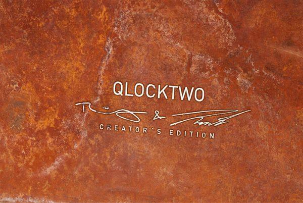 Uhr Qlocktwo Classic, Creators Edition, Rust