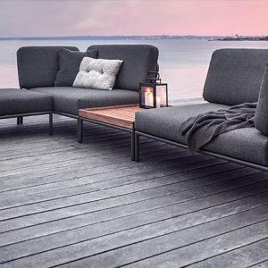 Outdoor-Lounge LEVEL, Endelement rechts