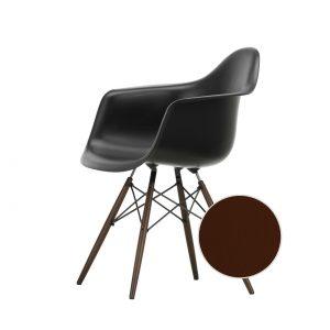 Eames Plastic Chair DAW, Gestell Ahorn dunkelbraun